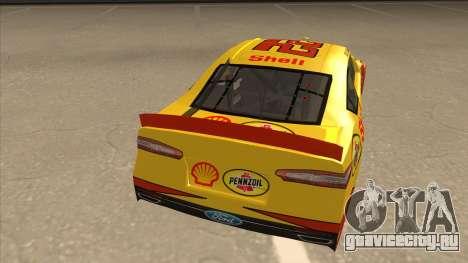 Ford Fusion NASCAR No. 22 Shell Pennzoil для GTA San Andreas вид справа