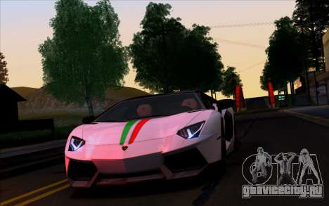 Lamborghini Aventador LP700-4 Vossen V2.0 Final для GTA San Andreas вид сбоку