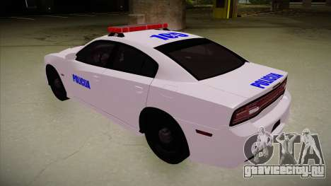 Dodge Charger SRT8 Policija для GTA San Andreas вид сзади