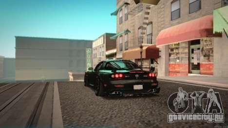 Mazda RX-7 STANCENATION для GTA San Andreas вид сзади