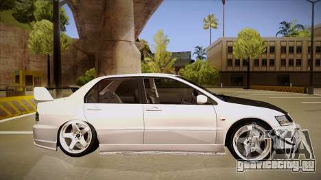 Mitsubishi EVO VIII для GTA San Andreas вид сзади слева
