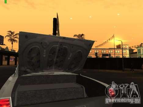 Газ 24 Drag Edition для GTA San Andreas вид изнутри
