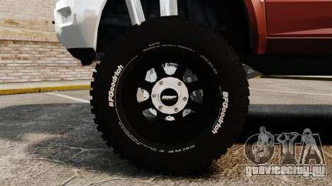 Dodge Ram 2500 Lifted Edition 2011 для GTA 4 вид сзади