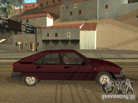 Citroën BX для GTA San Andreas вид справа
