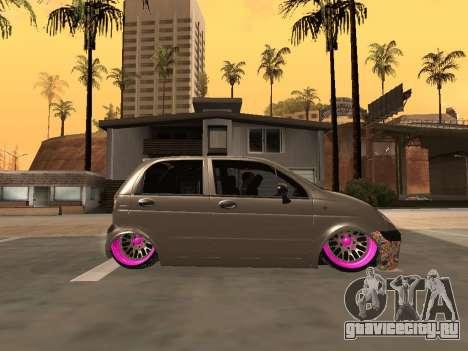 Daewoo Matiz Mexi Flush для GTA San Andreas вид слева