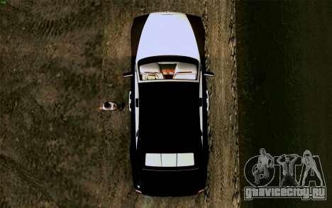 Rolls-Royce Ghost для GTA San Andreas вид сзади