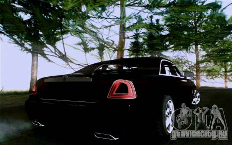 Rolls-Royce Ghost для GTA San Andreas вид изнутри