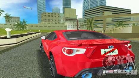 Subaru BRZ Type 1 для GTA Vice City вид сзади