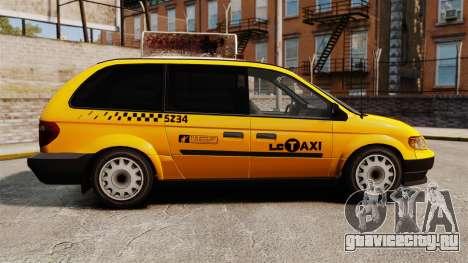 Dodge Grand Caravan 2005 Taxi LC для GTA 4 вид слева