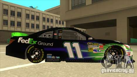 Toyota Camry NASCAR No. 11 FedEx Ground для GTA San Andreas вид сзади слева