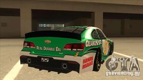 Chevrolet SS NASCAR No. 5 Quaker State для GTA San Andreas вид справа