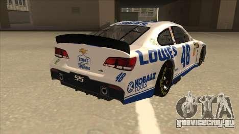 Chevrolet SS NASCAR No. 48 Lowes white для GTA San Andreas вид справа