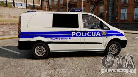 Mercedes-Benz Vito Croatian Police v2.0 [ELS] для GTA 4 вид слева