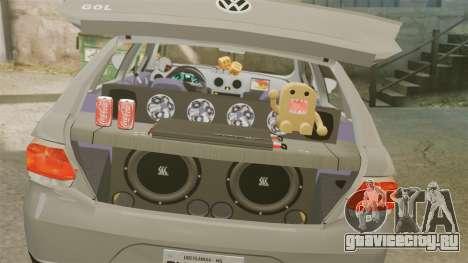Volkswagen Gol G6 2013 Turbo Socado для GTA 4 вид сбоку