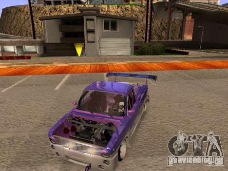 Ваз 2102 Fun DRFT для GTA San Andreas вид изнутри