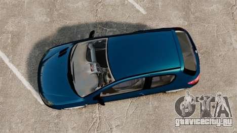 Peugeot 206 для GTA 4 вид справа