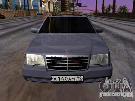 Mercedes-Benz S600 W140 для GTA San Andreas вид справа