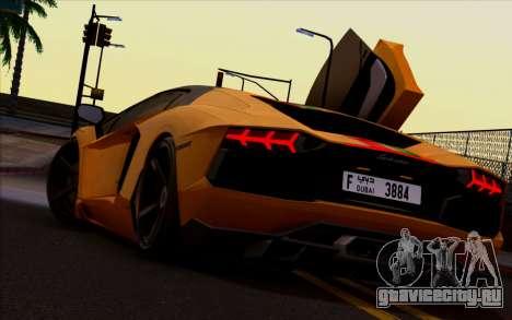Lamborghini Aventador LP700-4 Vossen V2.0 Final для GTA San Andreas вид справа