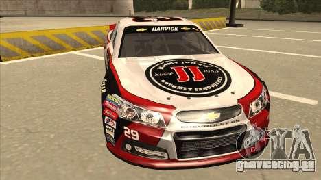 Chevrolet SS NASCAR No. 29 Jimmy Johns для GTA San Andreas вид слева