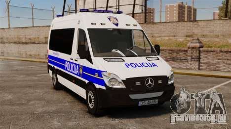 Mercedes-Benz Sprinter Croatian Police [ELS] для GTA 4