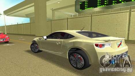 Subaru BRZ Type 1 для GTA Vice City вид справа
