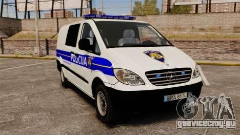 Mercedes-Benz Vito Croatian Police v2.0 [ELS] для GTA 4