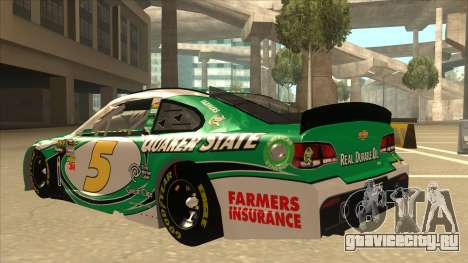 Chevrolet SS NASCAR No. 5 Quaker State для GTA San Andreas вид сзади
