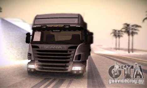 Scania R500 Topline для GTA San Andreas вид справа