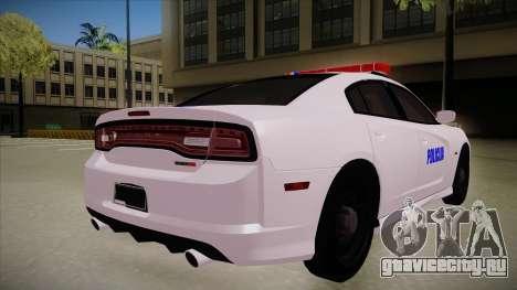 Dodge Charger SRT8 Policija для GTA San Andreas вид справа