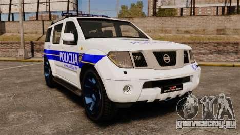 Nissan Pathfinder Croatian Police [ELS] для GTA 4