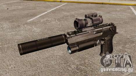 Пистолет Desert Eagle (тактический) для GTA 4 третий скриншот