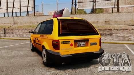 Dodge Grand Caravan 2005 Taxi LC для GTA 4 вид сзади слева