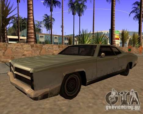 Buccaneer для GTA San Andreas вид сзади слева