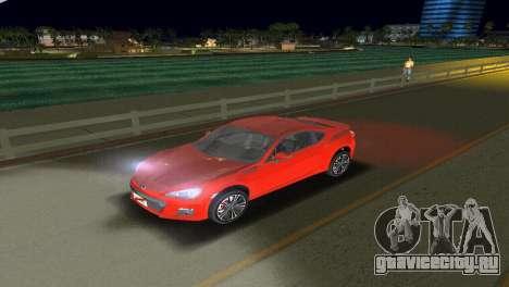Subaru BRZ Type 1 для GTA Vice City вид сбоку
