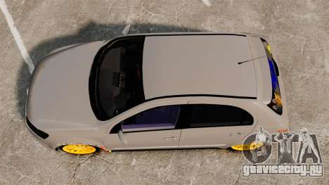 Volkswagen Gol G6 2013 Turbo Socado для GTA 4 вид справа