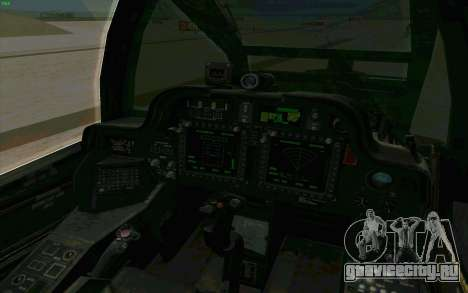 AH-64 Apache для GTA San Andreas вид сбоку