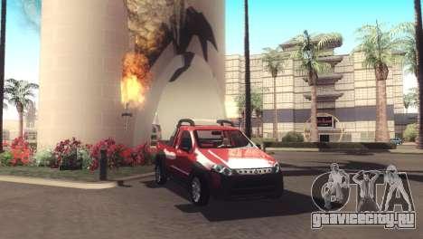 Fiat Strada Locker 2013 для GTA San Andreas вид изнутри
