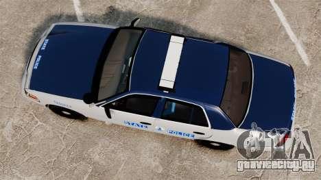 Ford Crown Victoria Virginia State Police [ELS] для GTA 4 вид справа
