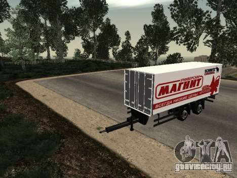 Прицеп MAN Магнит для GTA San Andreas вид справа