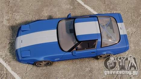 Chevrolet Corvette C4 1996 v2 для GTA 4 вид справа