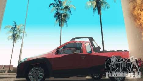 Fiat Strada Locker 2013 для GTA San Andreas вид сзади слева