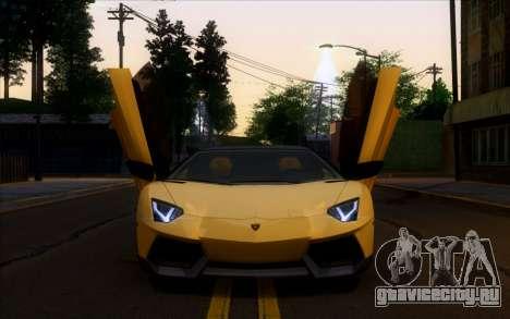 Lamborghini Aventador LP700-4 Vossen V2.0 Final для GTA San Andreas вид слева