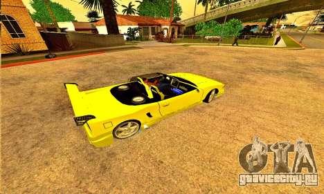 Infernus Cabrio Edition для GTA San Andreas вид слева
