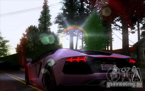 Lamborghini Aventador LP700-4 Vossen V2.0 Final для GTA San Andreas вид сзади