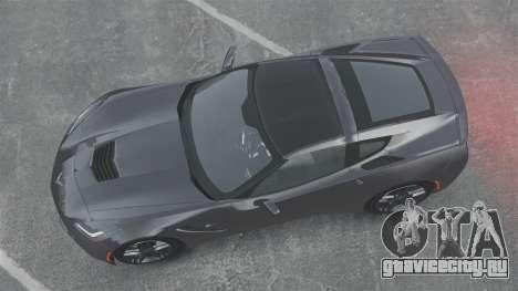 Chevrolet Corvette C7 Stingray 2014 для GTA 4 вид справа