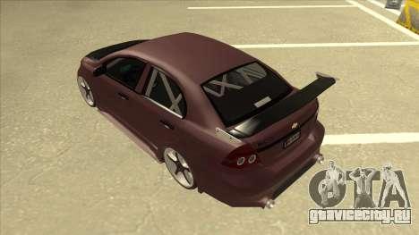 Chevrolet Aveo LT Tuning для GTA San Andreas вид сзади