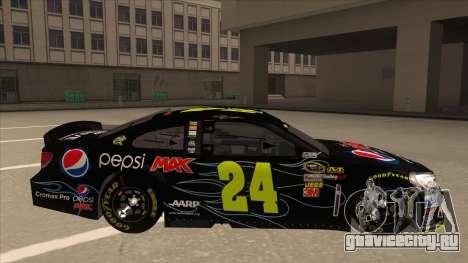 Chevrolet SS NASCAR No. 24 Pepsi Max AARP для GTA San Andreas вид сзади слева