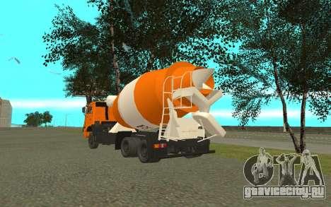 КамАЗ 6520 Цементовоз для GTA San Andreas вид сзади слева