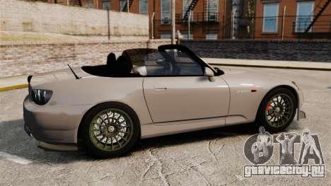 Honda S2000 для GTA 4 вид слева