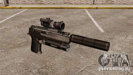 Пистолет Desert Eagle (тактический) для GTA 4